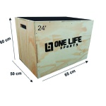 Caixote Plyo Box Crossfit 24' ONE LIFE - 60 X 65 X 50 CM