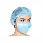 Máscara Descartável Tripla C/Elástico C/50 Unidades Azul Anadona
