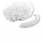 Touca Branca Descartável Sanfonada C/ Elástico 100 Unidades