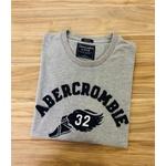 Camiseta Abercrombie & Fitch CINZA ESCURO/CLARO