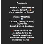 KIT COM 10 CAMISETAS DO MESMO TAMANHO (46,00 CADA)