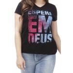 Camiseta Baby Look Espera em Deus
