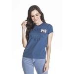Camiseta Baby look Geração 148 2019 Azul Cobalto