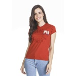 Camiseta Baby look Geração 148 2019 Vermelho Terracota