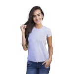 Camiseta Básica Baby Look Cinza Mescla