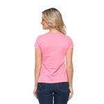 Camiseta Baby Look Boas Coisas Rosa