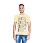 Camiseta Boas Coisas Amarelo Claro