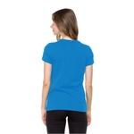 Camiseta Baby Look Filho de Deus Azul Cobalto