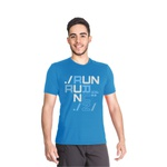 Camiseta Dry Fit Running For Jesus Azul