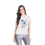 Camiseta Baby Look Dry Fit Running For Jesus Branco