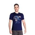 Camiseta Dry Fit Running For Jesus Azul Marinho
