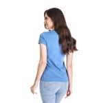 Camiseta Baby Look Guarde Seu Coração Azul Bebe