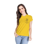 Camiseta Baby Look Guarde Seu Coração Amarelo Gema