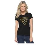 Camiseta Baby Look Bordada na Cor Dourada DBV