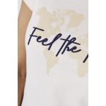 Camiseta Baby Look Feel The Mission Bege
