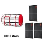 Boiler Solar 600l Baixa Pressão c/ 3 Placas 2,00 x 1,00 komeco