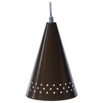 Pendente Cone Ø15cm x 22cm Marrom Para 1 Lâmpada E27