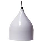 Pendente Ø17cm x 21cm Branco para 1 Lâmpada E27