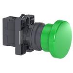 Botão 22mm Plástico Soco a Impulsão D40mm 1NA Verde XA2EC31 Schneider