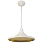 Pendente 861 Ø36cm Para 1 Lâmpada E27 Branco(externo) Dourado Mate(interno)