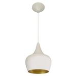 Pendente 862 Ø25cm Para 1 Lâmpada E27 Branco(externo) Dourado Mate(interno)