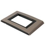 Placa 4x2 Para 3 Módulos Refinatto Style Argila e Preto- Weg