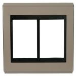 Placa 4x4 Para 6 Módulos Refinatto Style - Argila e Preto Weg