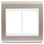 Placa 4x4 Para 6 Módulos Refinatto Concept - Champanhe e Branco Weg