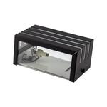 Arandela de Efeito Frisada para 1 Lâmpada Halopin/LED com 2 Vidros Preto I9