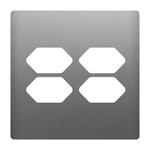 Placa 4x4 com Suporte para 4 Tomadas AC1500/59 Dicompel