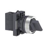 Comutador 22mm Plástico Manopla Curta 3 Posições Fixas 2NA XA2ED21 Schneider