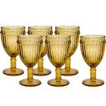 Jogo de 6 taças de Água Vidro Âmbar 330ml