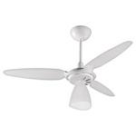 Ventilador de Teto 3 Pás Plásticas Brancas Wind Light Branco para 1 Lâmpada E27 220V Ventisol