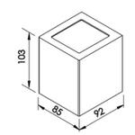 Arandela Quadrada Ext. Preta 2 Faixos Halopin G9 Bivolt Newline