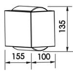 Arandela Lens 127V Vidro Branca Newline