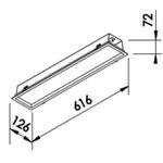 Embutido de Teto Quadrado Plano Para Lâmpada AR111 Branco Newline