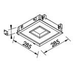 Plafon de Embutir New Chess 28,5x28,5cm 16,8W 3000K Branco Bivolt Newline