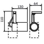 Spot para 1 Lâmpada Dicróica (GU10) com Adaptador para Trilho Branco