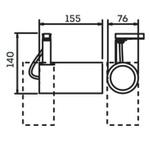 Spot para 1 Lâmpada PAR20 com Adaptador para Trilho Preto