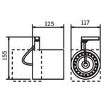 Spot para 1 Lâmpada AR111 com adaptador para Trilho 50W Branco Bivolt Newline