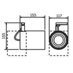 Spot para 1 Lâmpada PAR30 com adaptador p/ Trilho 75W Preto Bivolt Newline