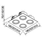Embutido de Teto Quadrado Plano Para Lâmpada PAR16 Branco Bivolt Newline