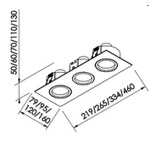 Embutido de Teto Quadrado Plano Para Lâmpada AR111 Branca Bivolt Newline