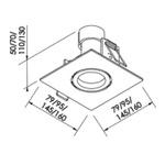 Embutido de Teto Quadrado Plano Para Lâmpada PAR30 Branco Bivolt Newline