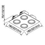 Embutido de Teto Quadrado Plano AR111 Branco Bivolt Newline