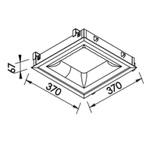 Plafon de Embutir New Massu 37x37cm 25,2W 3000K Branco Bivolt Newline
