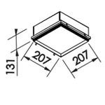 Embutido de Teto No Frame Para Lâmpada E27 Branco Bivolt Newline