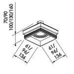 Embutido de Teto No Frame II Para Lâmpada PAR16 Branco Bivolt Newline