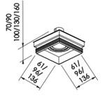 Embutido de Teto No Frame II Para Lâmpada PAR20 Preto Bivolt Newline