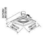 Embutido de Teto Recuado II Para Lâmpada PAR16 Preto Bivolt Newline